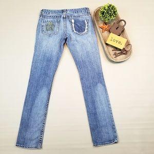 Express Stella Skinny Leg distressed denim jeans